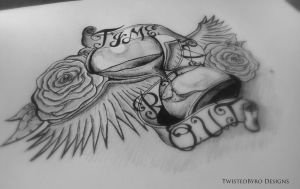Hourglass Tattoo Design - Time Runs Out by TwistedByro