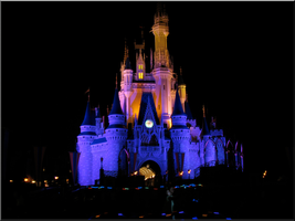 Castle at Night - Blue + Pink by WDWParksGal