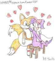 Tails and Fifi. by MikeyTheFox