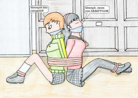 Chie and Yukiko Tied by TraceMem