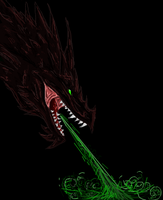 dark dragon iscribble by Minerea