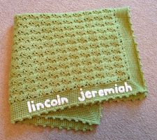 baby name blanket by Brookette