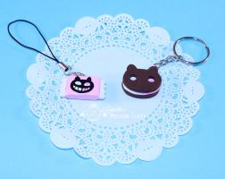 Cookie Cat Charms by CupCakeMonsterCrafts