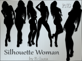 Silhouette Woman-png by Beluxatete