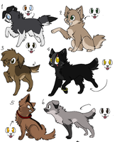 Adoptables *CLOSED* by Wolfgirl50