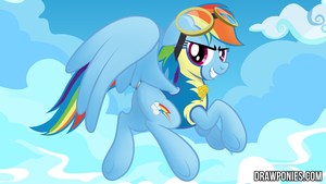 Dash Wonderbolt Drawponies Background by drawponies