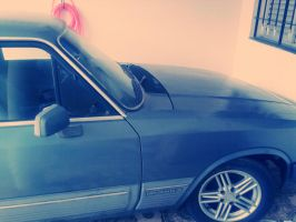 My blue opel by Emersonpriest