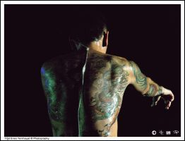 CHESTER'S BACK and TATTOOS by lionyigit