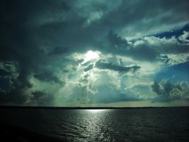 Clouds over lake 2 by robhas1left