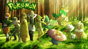 Grass type Pokemon trainers (Re-Updated art)