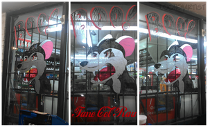 Fane cel Rau Window Painting by LooneyArtist