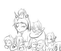 So many kids by AskEuropePony