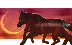 Ookami+Solace - wolves by fallenLuce