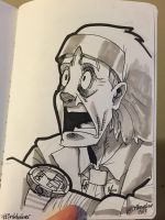Inktober Day 21 - Doc Brown by SupaCrikeyDave