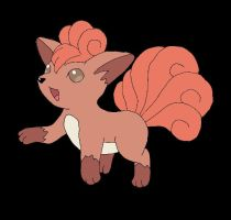 Vulpix Colored by SkulblakaShurtugal