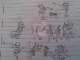 SCHOOL DOODLES! by MLPfimAndTMNTfan