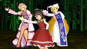 MMD Yakumo Club + Video Link by CrimsonKingie