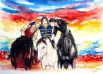 On their high Horses... by WindFlowerGirl