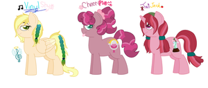 VinylShy, CheeriPie and TwiJack ADOPTS: CLOSED by Strawberry-Spritz
