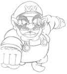 Wario: The Legend (Quick Sketch) by Th3AntiGuardian