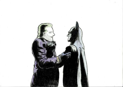 Batman vs Joker :) by NemanjaVeselinovic
