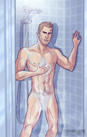 Borderlands 2: Axton's shower by cynellis