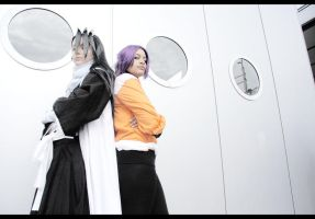 Byakuya and Yoruichi by Kagoya-chan