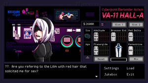 Nier Automata-Welcome to Va-11 Hall-A by waitwtf