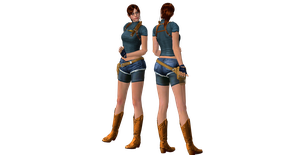 XnaLara Model: Claire Redfield ORC (NoVest) by SilverMoonCrystal