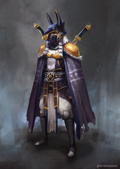 Egyptian Hero Character Design by jeffchendesigns