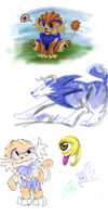 Monster Rancher Doodles by kindalkaykay