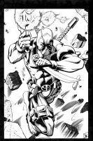 Deadpool inks by madman1