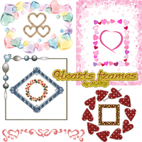 Hearts frames by MARY1976