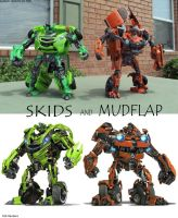 Skids and Mudflap customs by Unicron9