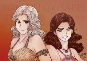 Two friends in manga style into Game of Thrones by SuzieSuzy