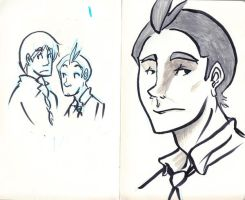 Apollo and Klavier Sketches by BlueCheshireCat