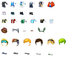 Guy Items - fantage pack by kaitlenxlove