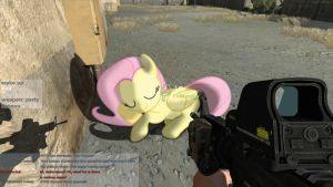 Fluttershy in ARMA II [PIVG] by colorfulBrony
