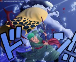 Roronoa Zoro VS Hodi Jones by sebas-toon