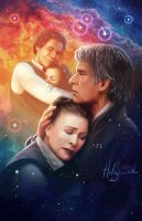 Star Wars: The Force Awakens - Leia and Han Solo by lostie815