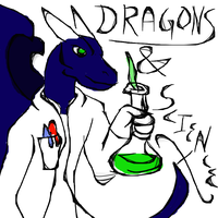 Quick after X-mas with Dragons and Science by Poorartman