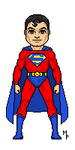 Micro Heroes Superman Inverted Costume by TalisonPulido