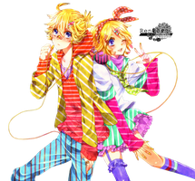 Len and Rin Render by IsaVII