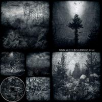 6 pages CD image Black Dark Metal CD album cover by MOONRINGDESIGN