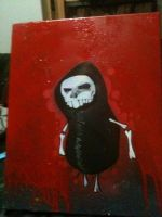 skull hoody canvas by enves