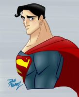 Superman by Dave Alvarez in color by Kryptoniano
