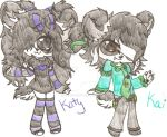 Katy and Kai the twin Panda's by DewdropLightly