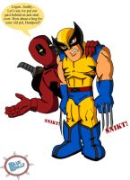 SHS Deadpool and Wolverine by LoveMyBlueBully