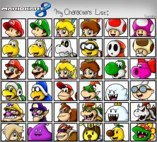 Mario Kart 8: My Characters List by SuperLakitu