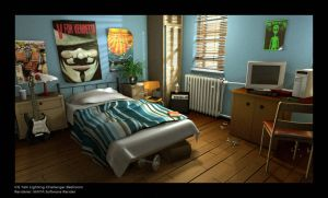 CGT lighting Challenge Bedroom by DANNY-KURIAN
